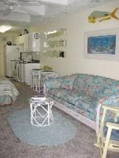 Beautifully Appointed Living Room with Queen Sleeper Sofa - 41st Ocean City Condo - Great Ocean View - Ocean City - rentals