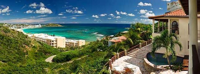 Baywood Villa...5 minute walk to Dawn Beach, Dutch St. Maarten  800 480 8555 - BAYWOOD VILLA...offers stunning views of the ocean and St. Barths - Saint Martin-Sint Maarten - rentals