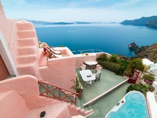 PINK Cave, 3 terraces outdoor jacuzzi Caldera View - Oia vacation rentals