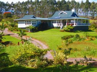 Elegant luxury home, 20 ac, ocean view - Hilo vacation rentals