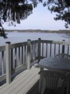 Patio at Lskefront Deckside - Wisconsin Dells 2 Bdrm Vacation Rental - Lakefront - Lake Delton - rentals
