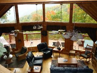 Smoky Sunrise log home overlooking Maggie Valley - Sylva vacation rentals