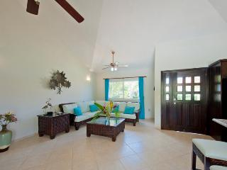 A two bedroom villa with a huge entertainment kitchen, beautiful design and AC in all the bedrooms. Has a private area with a pool and green garden where you can spend your lovely time!  Live and enjoy!(622) - Sosua vacation rentals