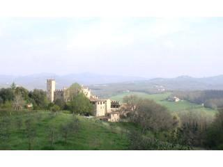 Front view of Montalto castle - Villa for 6persons in Medioeval castle in Chianti - Siena - rentals