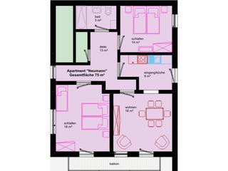 Vacation Apartment in Veitshöchheim - 807 sqft, elegant, central, modern (# 1522) - Bavaria vacation rentals