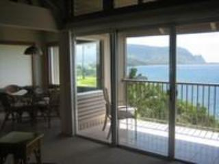 Living room view - PALE KE KUA 221,  SPECTACULAR OCEAN AND BAY VIEWS - Princeville - rentals