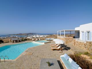 Greek Island Villa with views of the Aegean Sea and within Walking Distance of Town - Villa Belus - Cyclades vacation rentals