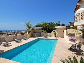 Gated Casa Tabachin with heated pool, spacious terrace & lovely town views - Puerto Vallarta vacation rentals