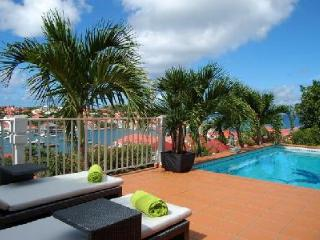 Spacious Le Marlin offers beautiful sunset and harbor views, pool & US Satellite - Gustavia vacation rentals