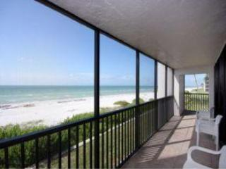 Gulf and Beach View From South Lanai - Luxury Condo on Beach Sleeps 6 Sanibel Island, FL - Sanibel Island - rentals