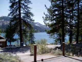 VIEW of DONNER LAKE AND MOUNTAINS - Donner Lake Vacation Rentals, LAKE VIEW, cabin - Truckee - rentals