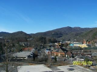 Balcony with View of Downtown Gatlinburg - Gatlinburg Chateau - 2 Bedroom Condo (304) - Gatlinburg - rentals