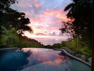 sunset from the pool - Luxury Ocean View Home! Daily Chef Service Included! - Manuel Antonio National Park - rentals