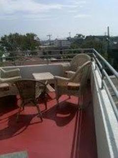 Patio-deck off living room - 2696 Mission Blvd. South Mission Beach, San Diego - Pacific Beach - rentals