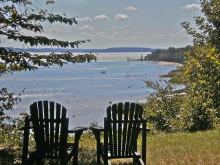 Waterfront Log Cabin for two: Strawberry Hill - Suttons Bay vacation rentals