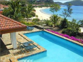 Beachfront Pelican Reef- with pool, tropical gardens & central location - Virgin Gorda vacation rentals