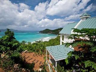 Refuge - Private beachfront villa features sea views, pool & tropical landscape - Tortola vacation rentals