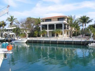 Back of home - Three story home 100 feet deep water dock big pool - Islamorada - rentals