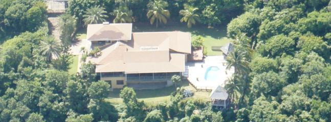Aerial view of Chateau Devaux - Chateau Devaux - Secluded Cliff Top Manor - Cap Estate, Gros Islet - rentals