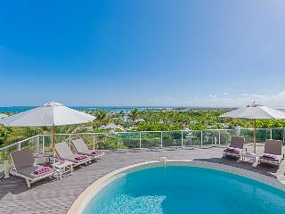 OCEAN VIEW VILLA @ GREEN CAY ... sunrise views over the ocean towards Tintamarre and St. Barth - Orient Bay vacation rentals