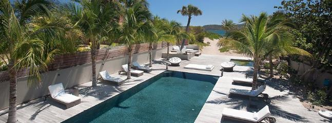 Villa K at Anse des Cayes, St. Barths - On The Beach, Ocean View, Long Heated Pool - Image 1 - Anse Des Cayes - rentals