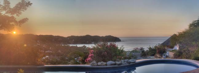 sunset view - Beautiful 3 bedroom home Casa Angel,Sayulita MX - Sayulita - rentals