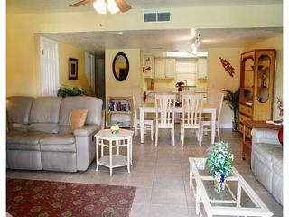Open Concept Living Room, Dining Room and Kitchen - Stunning 3 Bedroom Condo - Right at the Pier! - Cocoa Beach - rentals