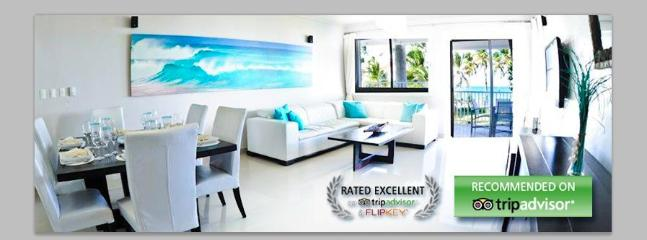 Dining and living room with Ocean front view! - Vacational 5 star luxury condo - Punta Cana - rentals