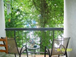 Wooded view on private balcony - Gatlinburg Chateau - 2 Bedroom Condo (109) - Gatlinburg - rentals