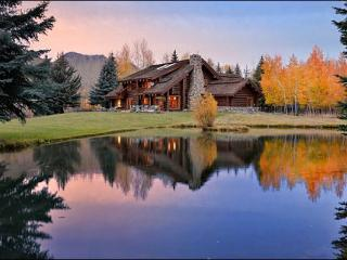 Riverside Log Home with Large Yard & Pond - Beautiful Quality Throughout the Home (1217) - Ketchum vacation rentals
