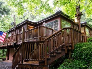 Riverfront home w/private hot tub, space for 6! - Rhododendron vacation rentals