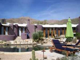 View of house from hot tub area - Desert Moon Retreat - Tucson - rentals