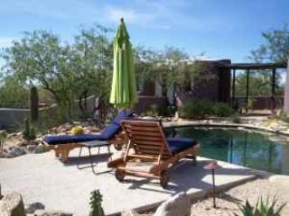 Exterior view of pool and sunning platform looking toward Casita - Casita at Desert Moon Retreat - Tucson - rentals