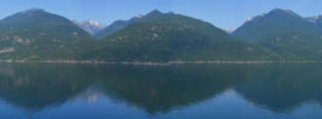 Panorama view from our deck - Panorama Cottage, Kootenay Lake, Ainsworth, Kaslo - Kaslo - rentals