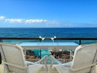 Exhilerating views of crashing waves at oceanfront 2bdr/2ba Poipu Shores306A - Koloa vacation rentals