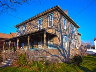 Tree-Lined Washington Street. Lovely Cover Front Porch. Nice Side Yard. - Classic Victorian Twin! 92893 - Cape May - rentals