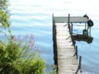 dock with swim platform - One story home on the westside of  Seneca Lake - Geneva - rentals