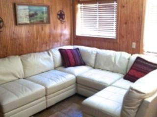 Living area with sectional couch - Condo 1, in town, 4 bedroom, Red River NM, Ski - Red River - rentals
