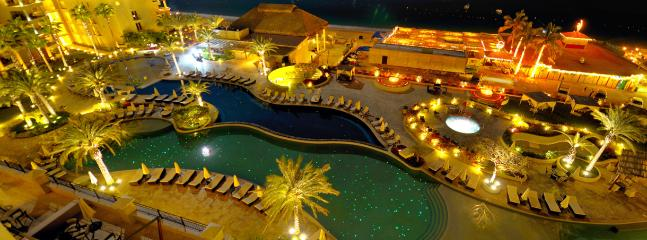 View from Balcony at night - Penthouse Suite at Casa Dorada on Medano Beach - Cabo San Lucas - rentals