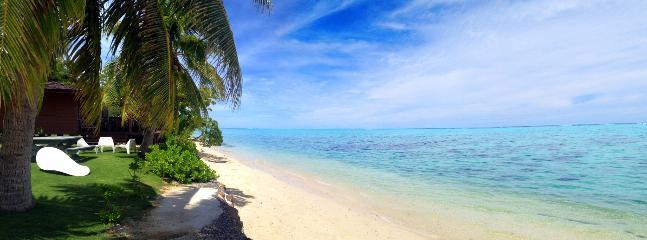 Fare Tahatai Beach - Fare Tahatai - MOOREA -  white sand beach - Haapiti - rentals
