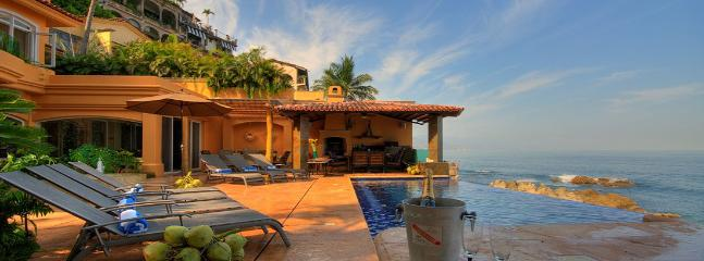 Luxury Beachfront Mansion For Large Groups W/ Pool - Image 1 - Puerto Vallarta - rentals