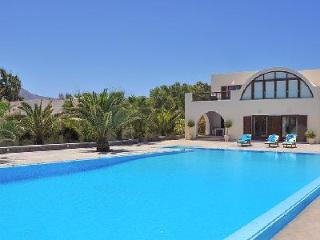 Beachfront Santorini Beach Villa set on pristine gardens with saltwater pool - Attica vacation rentals