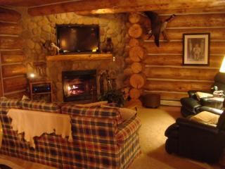 Custom Log Cabin in the Heart of the Manistee National Forest - Irons vacation rentals