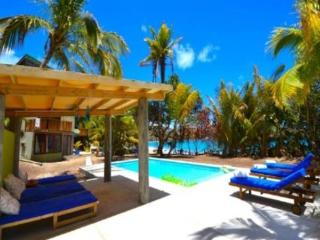 A modern, chic, eco 4 bedroom house with a swimming pool on the white sands of a beautiful Caribbean beach, 4 expertly decorated bedrooms, beach hut with speakers and kitchen bar.(v) - Friendship Beach vacation rentals