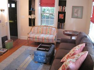 """Living Room - Beacon Hill -- """"The Federal Rose"""" antique house - Boston - rentals"""