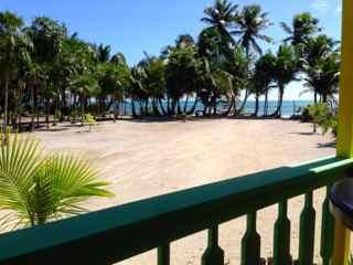 Looking at the Caribbean from your porch. - Tranquil Caribbean Island Beachfront Cottage 2 - San Pedro - rentals
