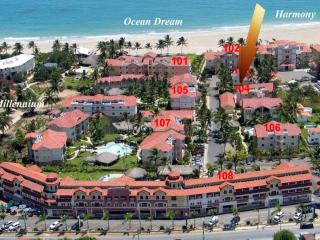 Stunning Art Deco 2/2 Ocean Dream beachfront apt - Cabarete vacation rentals