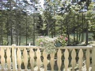 View from deck to Dock - Sunset Cove: Oceanfront Home w/ Private Tidal Dock - Pemaquid - rentals