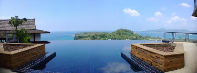 The large infinity edge pool with views over The Aman Peninsula, Bang Tao and Surin beaches. - The stunning five-bedrooms villa on Surin Beach - Thalang - rentals