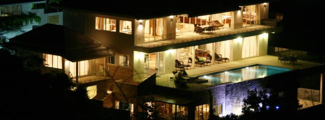 View of the  villa at night - IslandView Villa with swimming pool & full seaview - Koh Samui - rentals